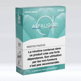 E-liquide Menthe Fraîche Tripack 30 ml - Alfaliquid
