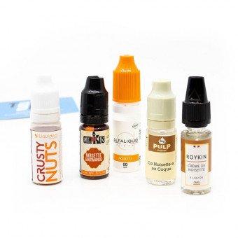 E-liquides Noisette en pack (x5)