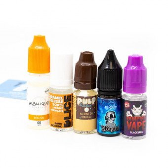 E-liquides Réglisse en pack (x5)