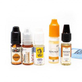 E-liquides Caramel en pack (x5)