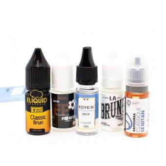 E-liquides Brun en pack (x5)