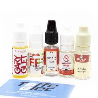 E-liquides Fraise en pack (x5)