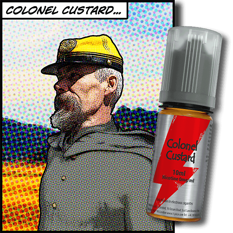 Flacon e-liquide Colonel Custard T-juice