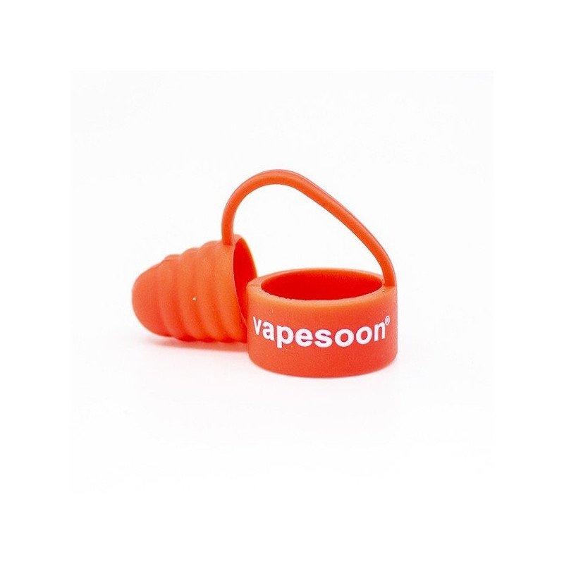 Bague à drip tip + capuchon couleur orange