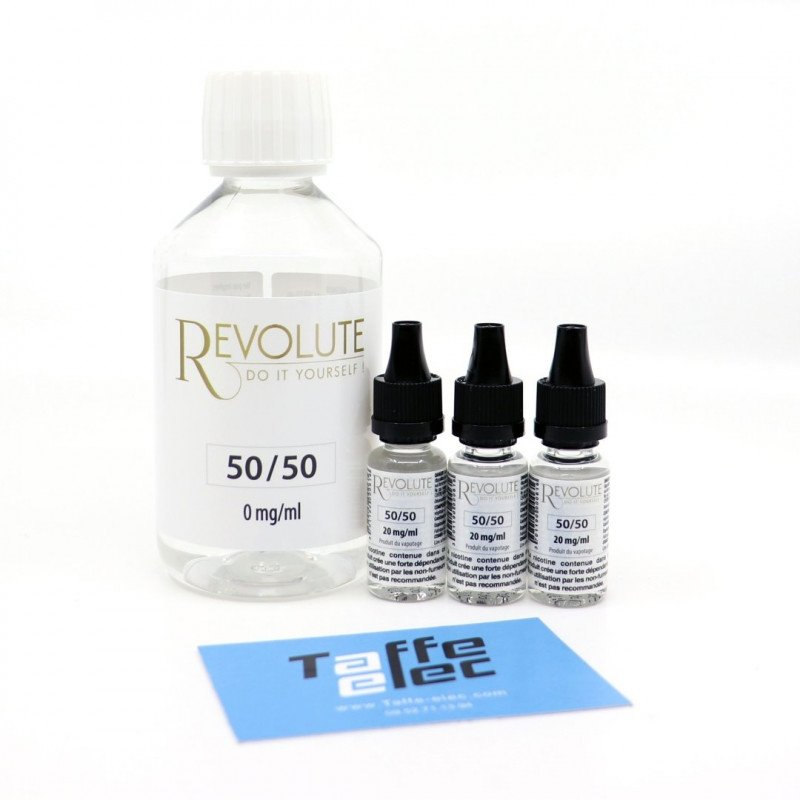 Pack DIY avec nicotine - 200ml 50/50 -  Revolute