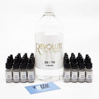 Pack DIY avec nicotine 1 litre 30/70 - Revolute